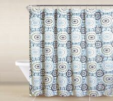 13 Piece Shower curtain set with Geometric design Made of 100% polyester.(Bella)