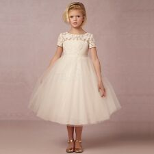 Girls Bridesmaid Kids Princess Wedding Communion Party Recital Flower Girl Dress