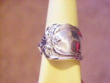 Reed Barton Burgundy Sterling Silver Spoon Ring