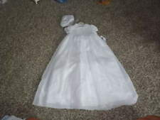 NWT NEW SARAH LOUISE 6M 6 MONTHS CHRISTENING GOWN DRESS BONNET SMOCKED BEADED