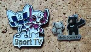 2 pin Olympic Games Tokyo Japan 2020 Media Sport TV Radio Press PyeongChan 2018