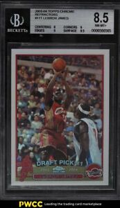 2003 Topps Chrome Refractor LeBron James ROOKIE RC #111 BGS 8.5 NM-MT+
