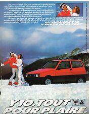 Publicité Advertising 1988 Autobianchi Lancia Y10