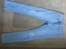 mens topman spray on skinny rip jeans 32R