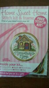 Home Sweet Home cross stitch kit and frame