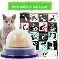 Cat Snack Catnip Sugar Candy Licking Solid Nutrition Energy Ball Pet Food Toy UK