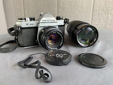 Pentax K1000 35mm SLR Camera Kit w/ 50mm Lens, And Sears F80-200mm 1:4.0 Lens!!!