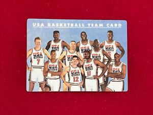 1992 Skybox Dream Team USA Basketball Plastic Card Michael Jordan, Magic & Bird