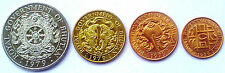 BHUTAN 4 DIFF. UNC COINS RARE COLLECTION