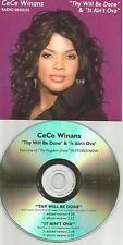 CECE WINANS Thy Will Be done / It ain't Ova EDITS TST PRESS PROMO CD single bebe
