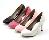 Womens High Heels Pointed Toe Patent Leather Party Pumps Shoes UK 1.5-10 D473