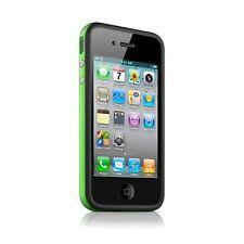 Cover Bumper HQ for IPHONE 4S/4 Bi Black/Green + Film Av / Ar