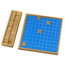 Montessori Mathematics Educational Wooden Teaching Toys 1-100 Number Table Toy