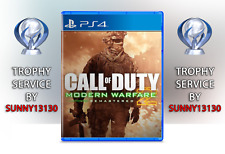 Call of Duty: Modern Warfare 2 Remastered PS4 Trophy Trophäen Platin Service