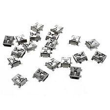 20 Pcs Replacement USB Mini 5-Pin Female SMT PCB Mount Jacks AD