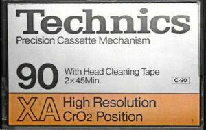 Technics RT-90XA TDK Blank Audio 90 Min / Type II / Chrome Cassette Tape - RARE