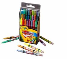 New Crayola 24 Mini Twistable Special Effects Crayons