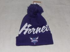 NBA Charlotte Hornets Adult Beanie Sport Pom Knit Cap Mitchell & Ness NWT