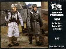 Verlinden 1:35 On the March Russia WWII 2 German Soldiers Resin Figure Kit #1484