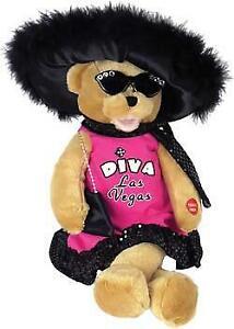 """CHANTILLY LANE DIVA BEAR sings """"DIVA LAS VEGAS"""" mouth moves while singing."""
