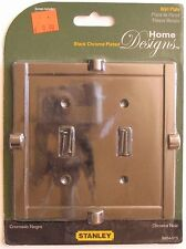 Stanley Steel Black Chrome Plated Dual Switch Wall Plates S804-575 #6le
