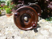 VINT. ' ALPHA' Victorian made 1940s? Fishing Reel- Line guide F/Post 3-1/4inch
