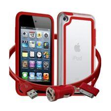Housse Etui Coque Bumper rouge pour Apple iPod Touch 4G + chargeur auto