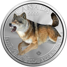 $5 Dollar Predator Wolf Special Edition fine silver Canada 2018 coloured