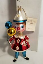 Thriftchi ~ Laved Italian Glass Ornament - Clown w Balloons Lt Ed