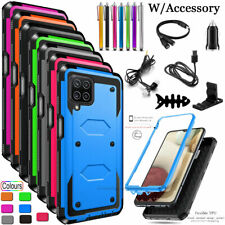 For Samsung Galaxy A12 4G 5G Hard Case Hybrid Shockproof Cover With Accessories