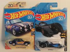 2018 HW Hotwheels SUPER TH Treasure Hunt '70 FORD ESCORT and Reg. TH BATMOBILE