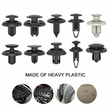 100X Black Plastic Push Rivet Trim Panel Fastener Clips 8mm Dia Hole for Car