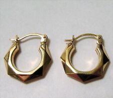 9ct Gold Creole Hoop Earrings, ER9998 New