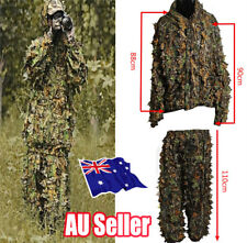 Leaf Ghillie Suit Woodland Camo Camouflage clothing 3D jungle Hunting  Hide ON