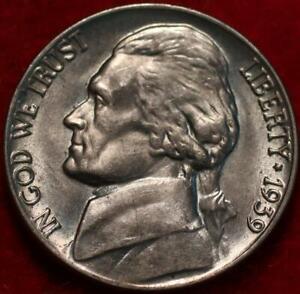 Uncirculated 1939 Philadelphia Mint Jefferson Nickel