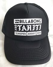 BILLABONG PRO TAHITI TEAHUPOO SURF 2016 SNAPBACK HAT PRE-OWNED BARELY USED