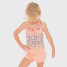 BNWT BILLABONG KIDS GIRLS DREAMER BIKINI TOP & SHORTS SWIMWEAR SIZE 4 (SUN PEACH