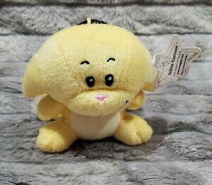 Neopets Yellow Kacheek Cat McDonald's Mini Promo Plush Stuffed Toy With Clip