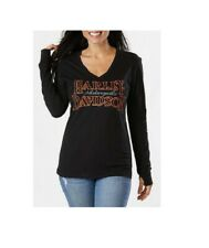 Harley-Davidson Women's Black Long Sleeve Dealer T-Shirt Lancashire England