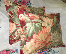 "2/ RALPH LAUREN fabric Custom DESERT PLAINS Boudoir Pillow Shams 12"" x16"" Sateen"