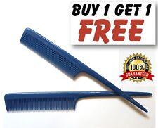 "Azul Marino barberos Plastic Pin Cola Peine de Cabello 8"" Cola de rata Peine Reino Unido Calidad PKT2"