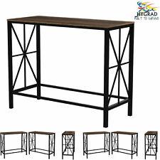 Industrial Console Table Rustic Metal Furniture Vintage Hallway Side Storage UK