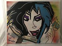Original Graffiti/Pop Art Painting,Signed,W/COA,Witch,Tabsch,Halloween,Spooky