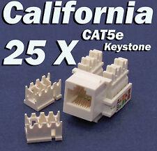 25 X Pcs lot Keystone Jack CAT5e Network Ethernet 110 Style Punch Down 8P8C RJ45