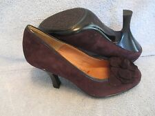 Womens Shoes SOFFIT Size 8 M DARK BROWN SUEDE PUMPS NWOT