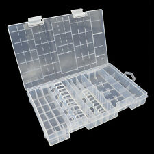 AAA AA C D 9V Battery Storage Holder Hard Clear Plastic Case Box Bag Rack Clear