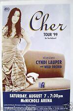 Cher / Cyndi Lauper 1999 Denver Concert Tour Poster - Classic Pop Divas!