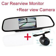 "4.3"" Screen TFT Car LCD Rear View Rearview DVD Mirror Monitor + Backup Camera a"