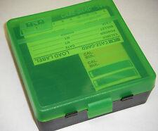 MTM Case Gard™ New MTM Plastic Ammo Box 100 Round 44 MAG P100-44-16T Black/Green