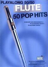 Playalong 50/50 Flute 50 Pop Hits aktuelle Pop Songs Noten für Querflöte